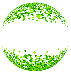 abstract green 3d ball vector image