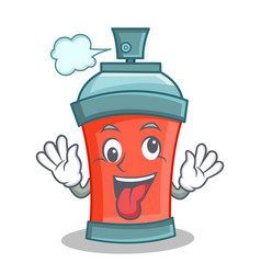 crazy aerosol spray can character cartoon vector image