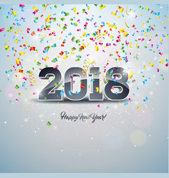 Happy new year 2018 with 3d number vector