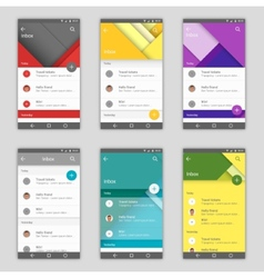 Set of user interfaces vector image