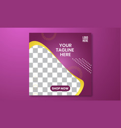 02 social media and banner template purple vector