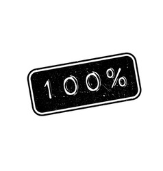 100 percent rubber stamp vector image vector image