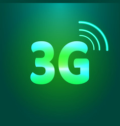 3g shiny icon vector image