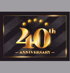 40 years anniversary celebration logo 40th vector image