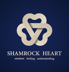 Abstract shamrock heart symbol vector