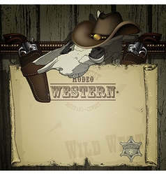 advertisement RODEO WESTERN vector image