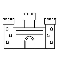 ancient castle icon outline style vector image
