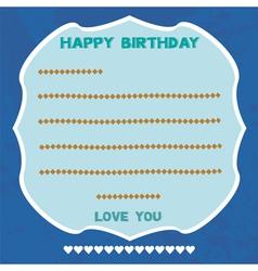 Birthday card5 vector image