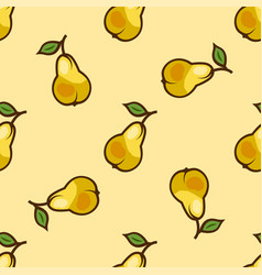 bright yellow pear seamless pattern vector image