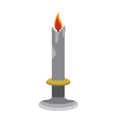 Candle cartoon icon isolated vector