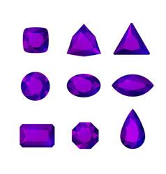 cartoon gem set vector image
