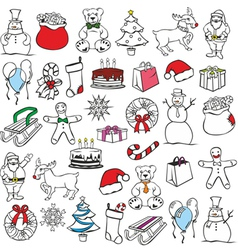 christmass items vector image