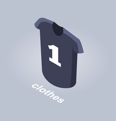clothes from internet shop isolated vector image