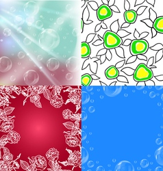 collection of seamless wallpapers vector image vector image