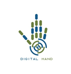 concept of abstract digital hand vector image