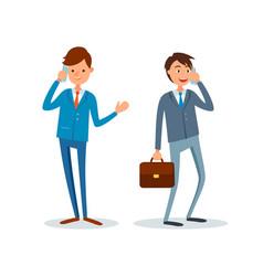 Consultants at work get business calls businessmen vector
