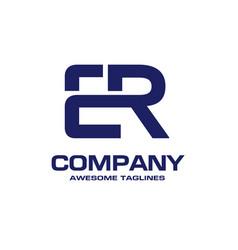 Creative initial letter er logo concept ele vector