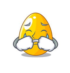 Crying simple gold egg on design character vector
