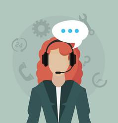 Customer service call center vector