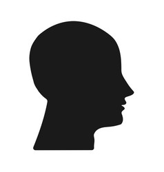 dark silhouette heads on white background vector image