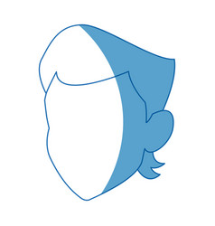 Faceless person portrait young cartoon icon vector