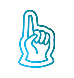 fan hand glove icon vector image