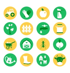 Farm and ranch Gardening icons set vector