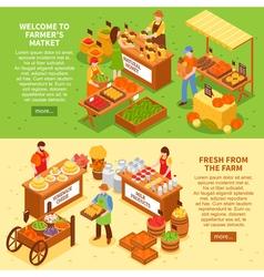 Farm Market Banners Set vector