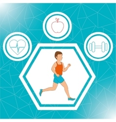 Fitness lifestyle and gym routine vector