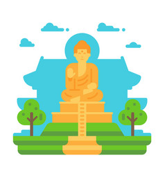 Flat design tian tan buddha vector
