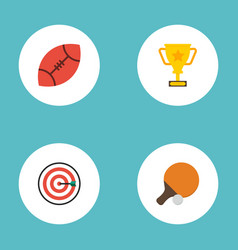 flat icons trophy table tennis arrow and other vector image