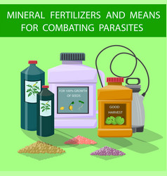 Flat mineral fertilizers and means for combating vector