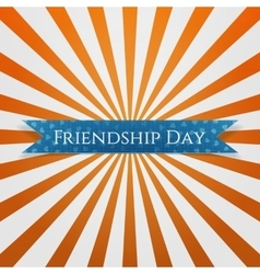 Friendship Day festive blue Ribbon vector
