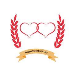 Greeting card with Valentines Day vector image