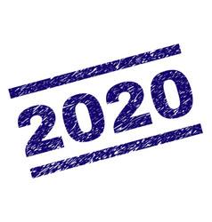 Grunge textured 2020 stamp seal vector