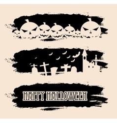 Halloween black grunge banners vector