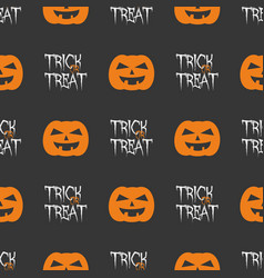 halloween tile pattern with orange pumpkins vector image