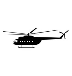 helicopter of silhouette vector image