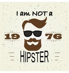 Hipster T-shirt Design Retro style typography vector image