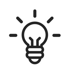 idea icon light bulb vector image