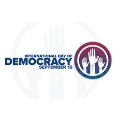 International day democracy september 15 vector