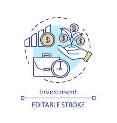 Investment concept icon vector