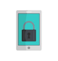 locked phone icon flat style vector image