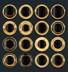 luxury golden design elements collection 4 vector image