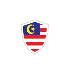 Malaysia flag emblem template design vector