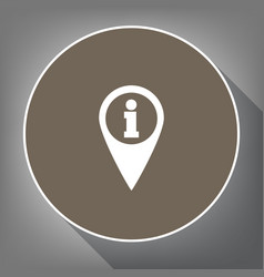 map pointer with information sign white vector image
