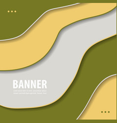 modern art abstract banner square frame for text vector image