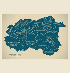 Modern city map - wakefield city of england with vector