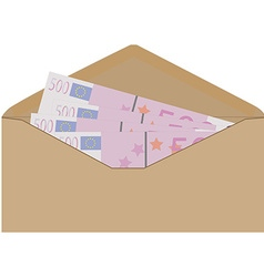 Money in envelope vector image