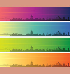 montreal multiple color gradient skyline banner vector image